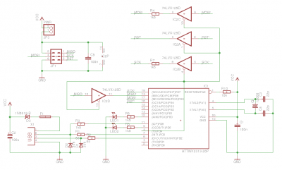 USBtinyISP schematics by alex